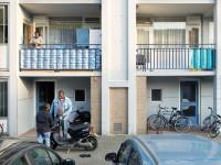 Amsterdam, 19 mei 2012, balkonserie, Via Nova, balkon, vreugde in Slotervaart